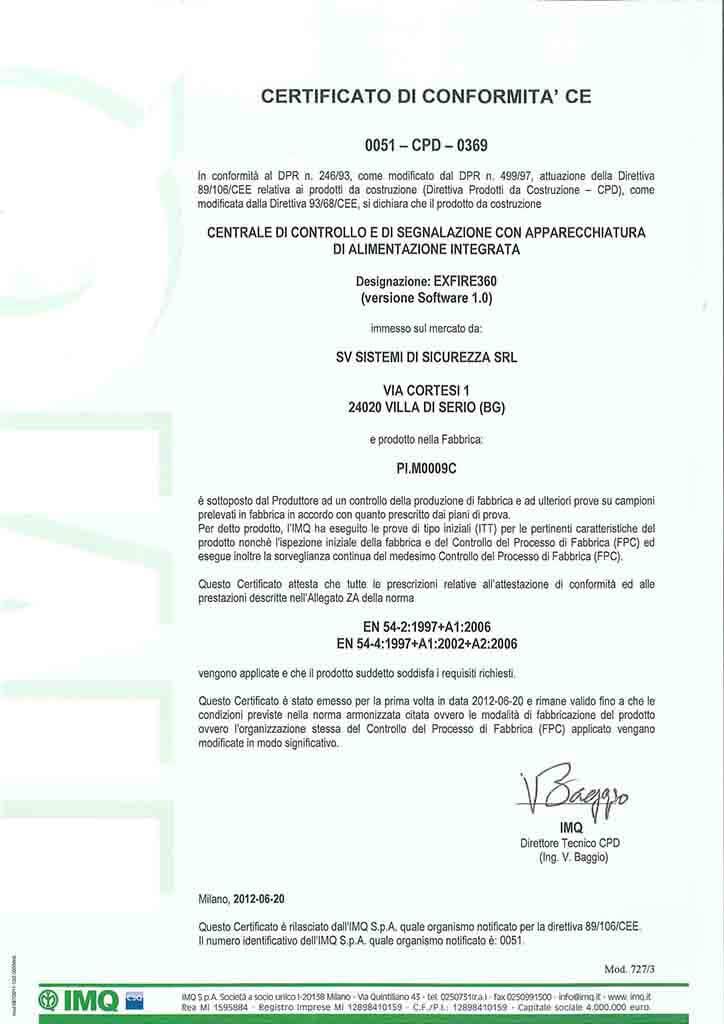 certificazioni antincendio